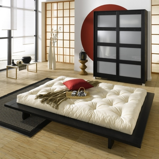 japan bed 140*200 cm black