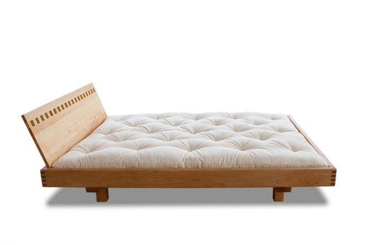 postel wood04 s čelem Plaid - barva natural